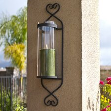 <strong>Danya B</strong> Classic Iron and Glass Cylinder Wall Sconce
