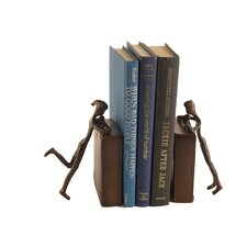 Children Peeking Book End (Set of 2)