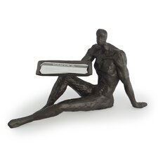 Male Figure Iron Card Holder
