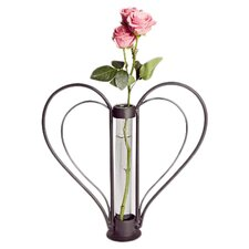 Iron Cylinder Sweetheart Flower Bud Vase
