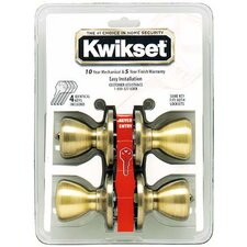 <strong>Kwikset</strong> Entry Locksets Tylo Knob (Set of 4)