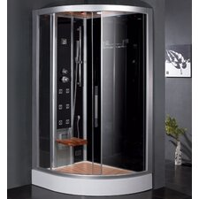"Platinum 47.7"" x 35.4"" x 89"" Pivot Door Steam Shower with Left Side Configuartion"