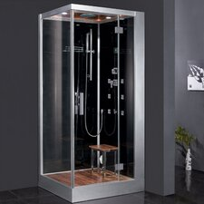 "<strong>Ariel Bath</strong> Platinum 39.3"" x 35.4"" x 89.2"" Pivot Door Steam Shower with Right Side Configuration"
