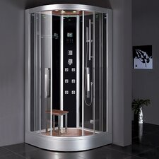 "Platinum 39.4"" x 39.4"" x 89"" Neo-Angle Door Steam Shower"