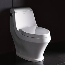 Adonis Contemporary 1.6 GPF Elongated 1 Piece Toilet