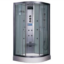 "Platinum 35.5"" x 35.5"" x 87.5"" Neo-Angle Door Steam Shower"