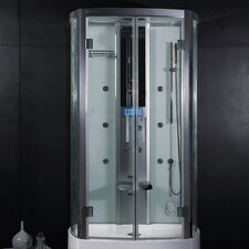 "<strong>Ariel Bath</strong> Platinum 47.2"" x 33.5"" x 88.6""  Neo-Angle Door Steam Shower"