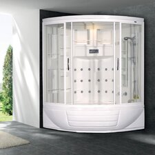 "Sliding Door 87"" x 56"" x 56"" Steam Sauna Shower with Bath Tub"