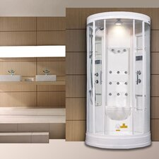 "<strong>Ariel Bath</strong> Sliding Door 85"" x 40"" x 40"" Steam Sauna Shower with Bath Tub"