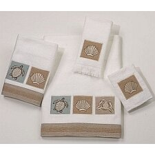 Sand Shells 4 Piece Towel Set