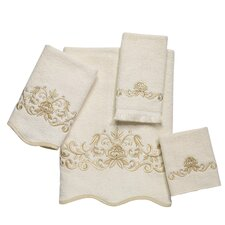 Venetian Scroll Scallop 4 Piece Towel Set