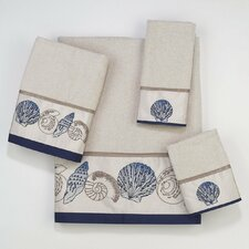 Hampton Shells 4 Piece Towel Set