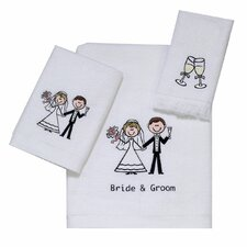 Bride and Groom 4 Piece Towel Set