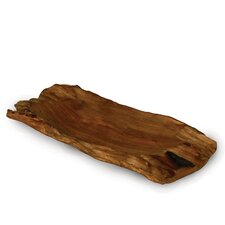 "<strong>Enrico</strong> Jungle Driftwood 18"" Rectangular Platter"