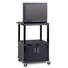 "Adjustable Height Video Cart For Up to 32"" TVs"