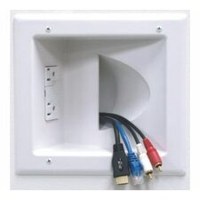 In-Wall Plastic Cable Plate