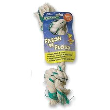 Fresh-N-Floss Two Knot Bone Dog Toy with Spearmint Flavor