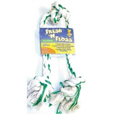 <strong>BOODA Pet Products</strong> Fresh-N-Floss Three Knot Bone Dog Toy