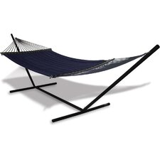 Universal Stand and Quilted Olefin Hammock Combo