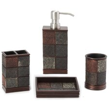 Tiles Bath Set in Brown (4 Pieces)