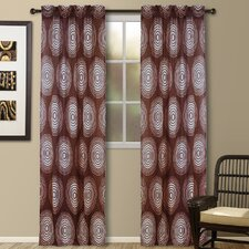 Jacquard Galaxy Rod Pocket Curtain Single Panel