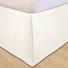 """Hike Up Your Skirt"" Solid Microfiber Bedskirt in Ivory"