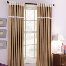 Dakota Hidden Tab Rod Pocket Curtain Single Panel