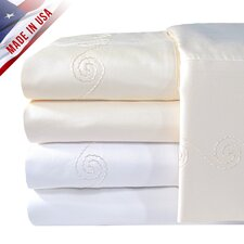 <strong>Veratex, Inc.</strong> Supreme Sateen 1200 Thread Count Swirl Pillowcase (Set of 2)