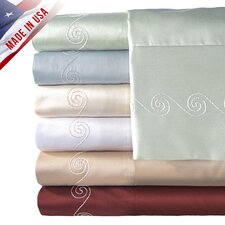 <strong>Veratex, Inc.</strong> Supreme Sateen 500 Thread Count Swirl Pillowcase (Set of 2)