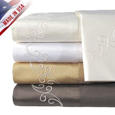 <strong>Veratex, Inc.</strong> Supreme Sateen 800 Thread Count Scroll Pillowcase (Set of 2)