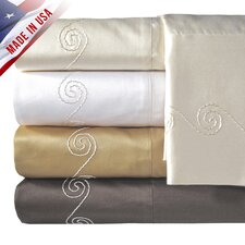 Supreme Sateen 800 Thread Count Swirl Pillowcase (Set of 2)