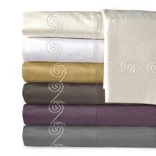 Supreme Sateen 800 Thread Count Cotton Swirl Pillowcase (Set of 2)