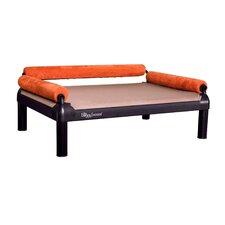 SnoozeSofa Dog Bed with Long Legs and a Black Anodized Frame