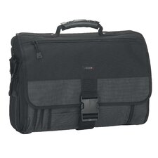 Classic Polyester Expandable Messenger Bag in Black/Grey