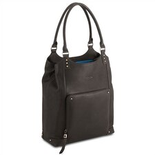 Executive Leather Laptop Bucket Tote