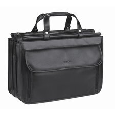 <strong>Solo Cases</strong> Classic Quad Compartment Briefcase