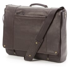 Vintage Leather Laptop Messenger in Espresso