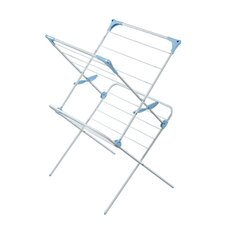 <strong>Minky Homecare</strong> Two Tier Duo Concertina Indoor Drying Rack in White