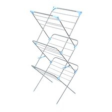 <strong>Minky Homecare</strong> Three Tier Trio Concertina Indoor Drying Rack in Silver