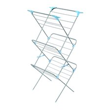 <strong>Minky Homecare</strong> Three Tier Trio Concertina Plus Indoor Drying Rack in Silver