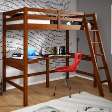 <strong>dCOR design</strong> Donco Kids Twin Loft Bed with Double Shelves
