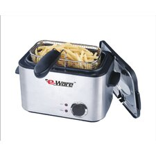 <strong>E-Ware</strong> 1.2 Liter Rectangular Mini Deep Fryer