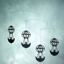 <strong>Flensted Mobiles</strong> Hans Christian Andersen Balloons Mobile in Black