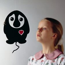 <strong>Flensted Mobiles</strong> Puffing Troll Heart Mobile in Black / Red