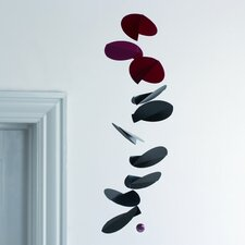 <strong>Flensted Mobiles</strong> Abstract Turning Leaves Mobile in Black / Red