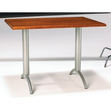 "Ellipse 30"" x 42"" Custom Rectangular Veneer Top Wood Edge Table"