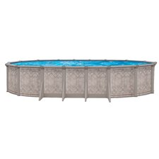 "<strong>Trevi</strong> Aqua Mate by Trevi Oval 52"" Deep Sunscape Above Gound Pool"