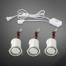Gimbal Three Light Mini Pot Adjustable Light Kit in White