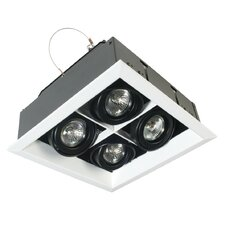 4 Light MR16 Square Multiple Recessed Kit