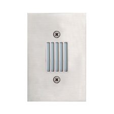 In Wall Four Light Covered Recessed in Satin Nickel